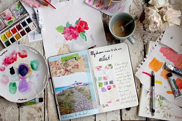 Art journalling with Annetta Bosakova