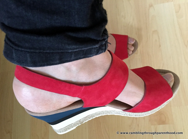 Glamming up with Breeze Wedges by Hotter Shoes