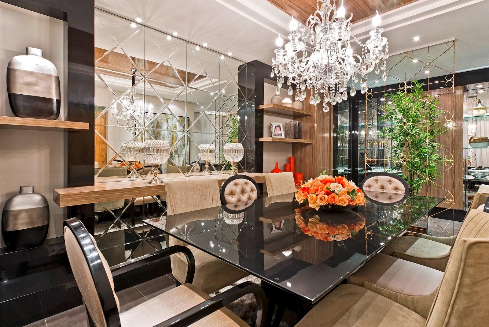 Salas de jantar 50 modelos maravilhosos e dicas de como decorar  #BC2F0F 1600x1068