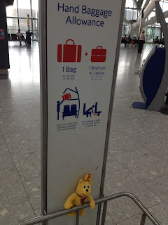 Pom Bear on the Hand Luggage Size Checker