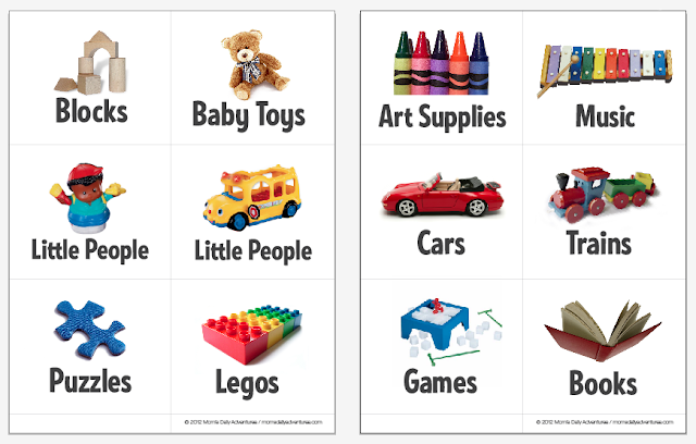 photograph regarding Printable Toy named Mothers Day by day Adventures!: Printable Toy Bin Labels