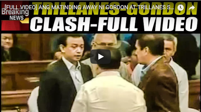 [FULL VIDEO]  Ang Matinding Away Ni Gordon At Trillanes Sa Senado!