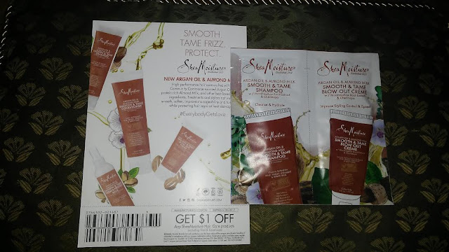 Fierce Voxbox Beauty Box Influenster beauty subscription box Shea Moisture Argan oil almond milk smooth and tame