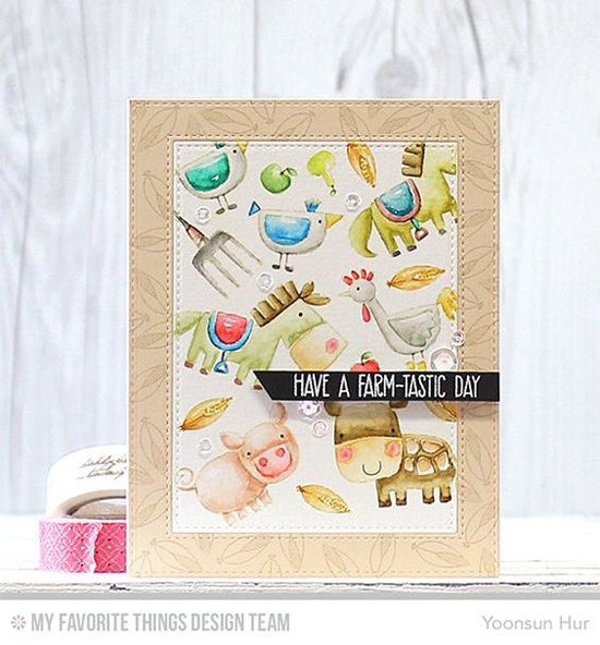 Farm-tastic Day Card by Yoonsun Hur featuring the Farm-tastic stamp set #mftstamps