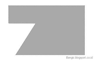 Hasil fungsi Back Minus Front pada corel