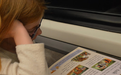 A family day trip to London with Virgin Trains East Coast -  reading on train