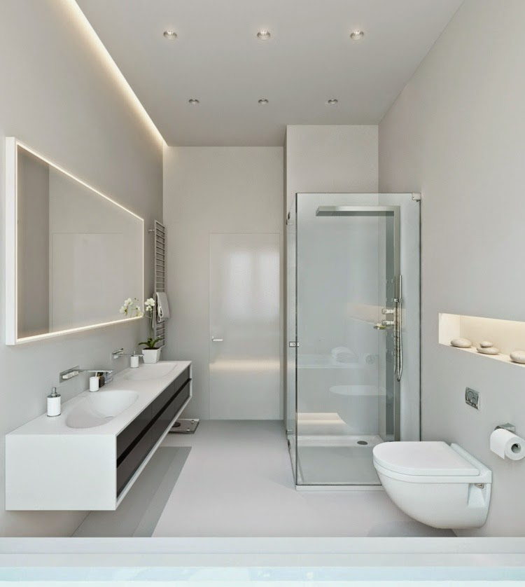 Latest modern led lights for false ceilings and walls for Contemporary bathroom ceiling lights