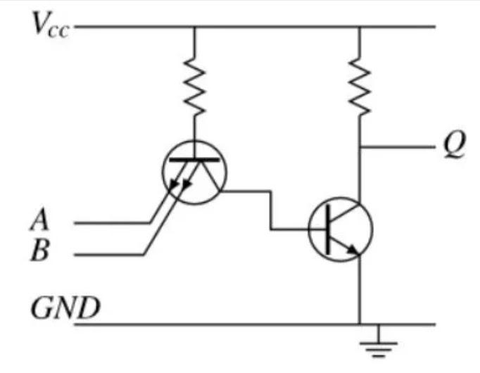 Transistor multi emitor pada rangkaian TTL