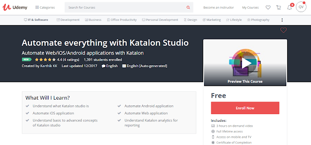 Automate everything with Katalon Studio