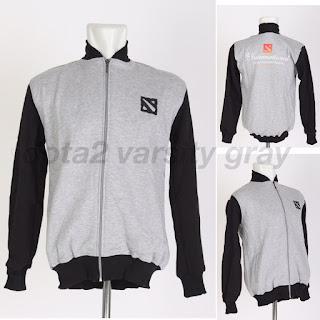 Jaket Gaming Varsity Dota2 Internasional Gray