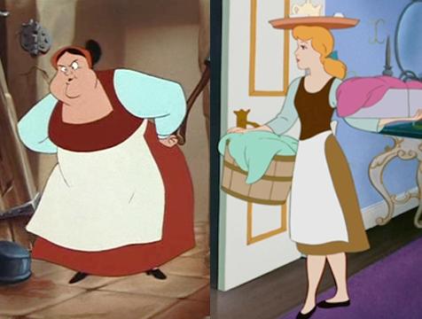 Carlotta, de La sirenita, y la Cenicienta lleva la misma indumentaria - Cine de Escritor