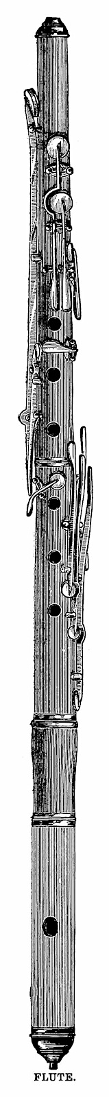 a detailed illustration of an 1886 flute