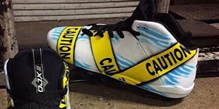 DeSean Jackson Shoes Caution Cleats