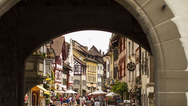 Great Places to Visit Near Zurich: Archway in Stein am Rhein Switzerland