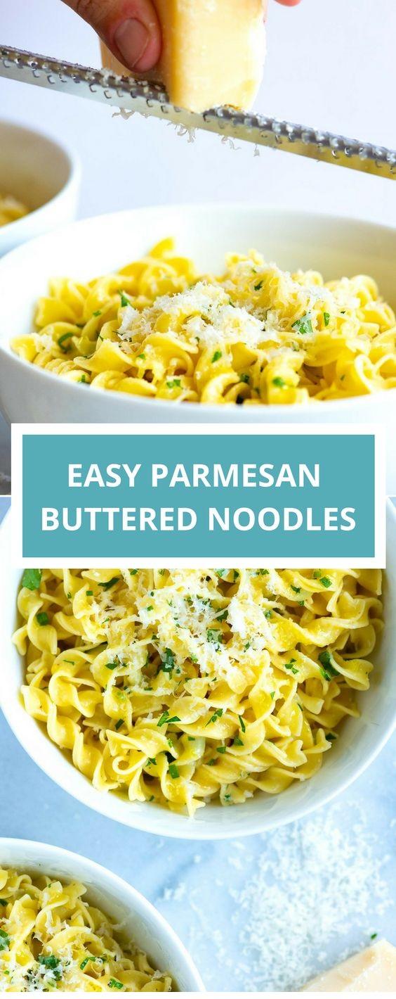 Easy Parmesan Buttered Noodles