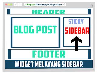Widget melayang sidebar