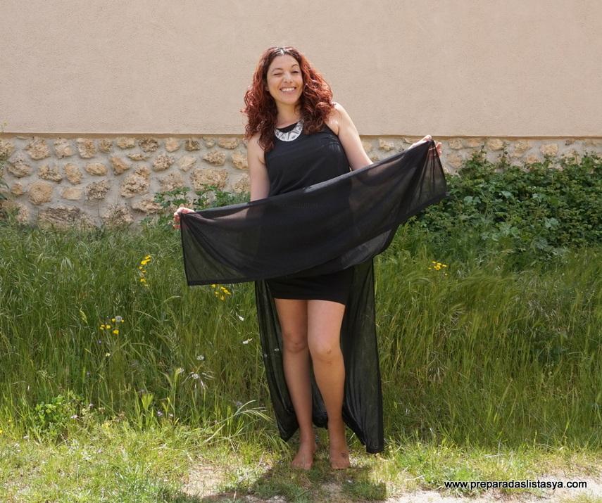 Falda larga aberturas