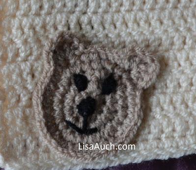 crochet bear applique pattern free