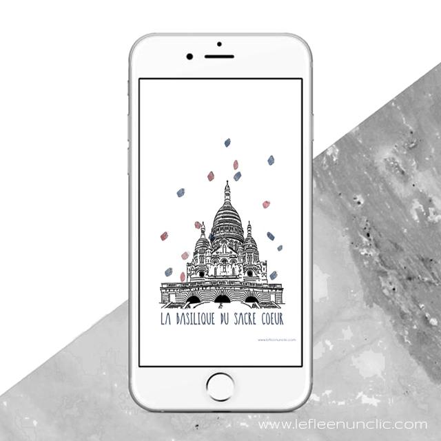 le Sacré Coeur, Paris, monument parisien, FLE, le FLE en un 'clic', fond d'écran