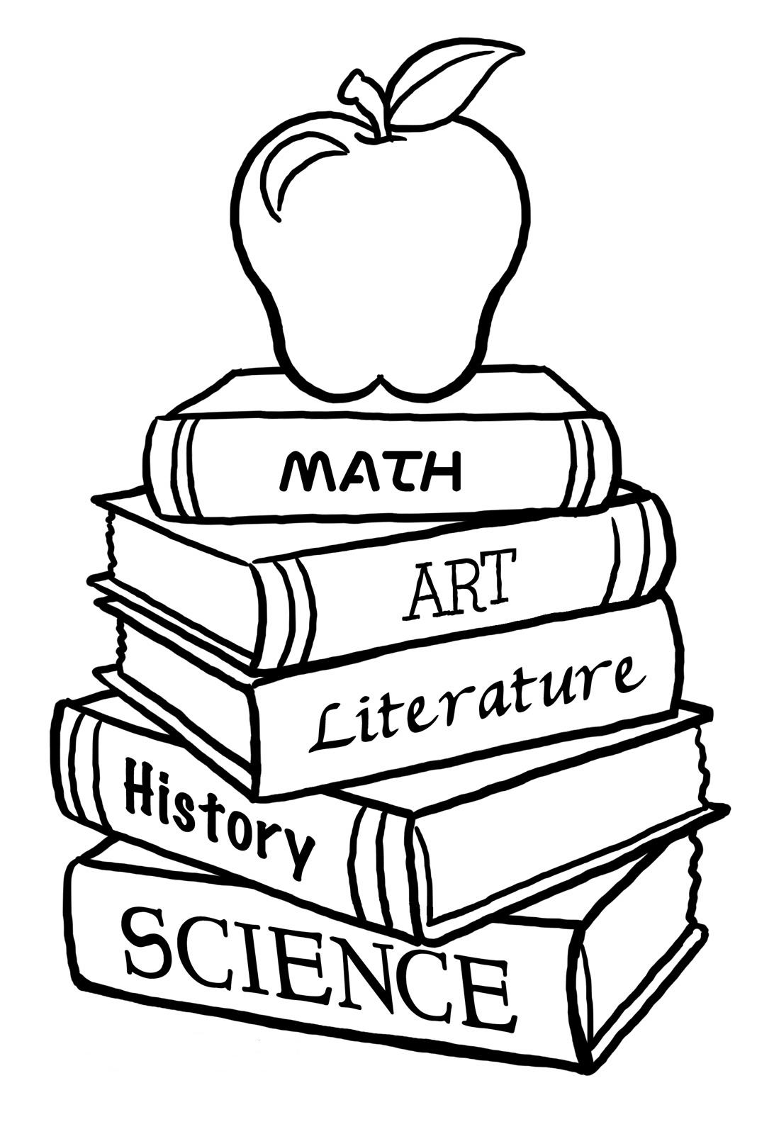 Books Back to School Coloring ~ Child Coloring