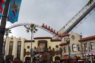 Roller Coaster Ride at Universal Studios Japan Osaka