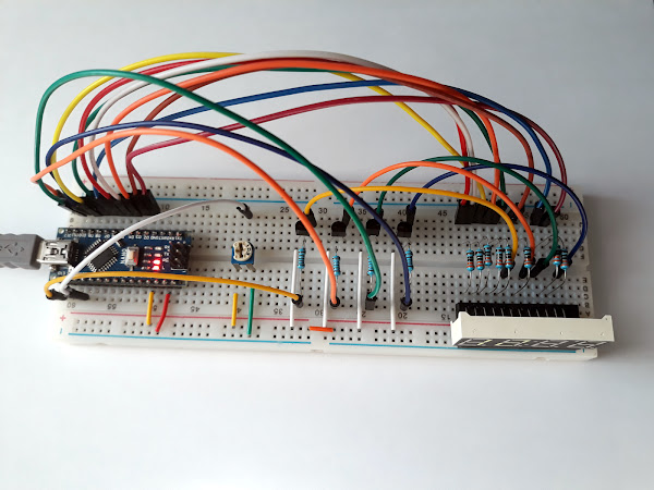 Drive the multiplexed 4 digit 7-segment display