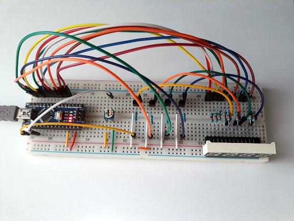 Utilizare afișaj multiplexat cu 7 segmente cu Arduino