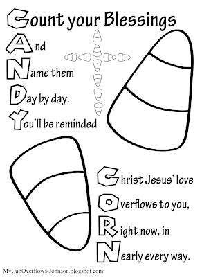 candy corn bible verse coloring page count your blessings