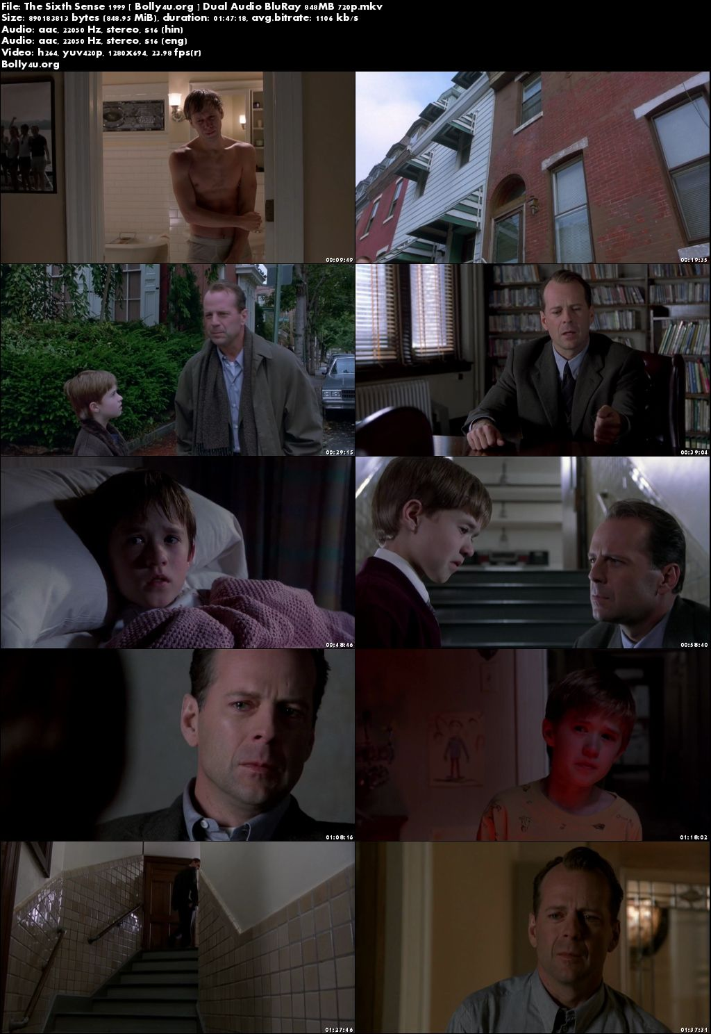 The Sixth Sense 1999 BluRay 350MB Hindi Dual Audio 480p Download