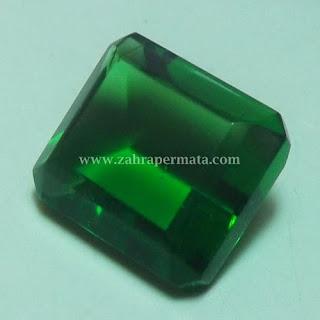 Batu Permata Green Tektite + Memo - ZP 408
