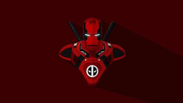 Papel de parede Homem de Ferro Deadpool para PC, Notebook, iPhone, Android e Tablet.