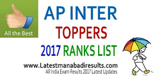 AP Inter Toppers 2017, AP Inter 1st year Toppers List Available at eenadu, sakshi and TV9. AP Inter 2nd year Toppers 2017