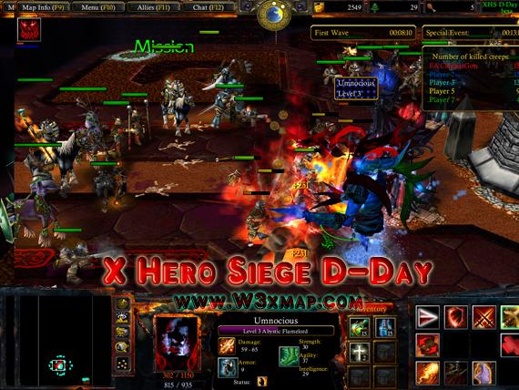X Hero Siege D-Day v1 0b - Warcraft III - DotaPod Forum