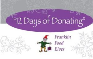 Wanted Food Elves for the Franklin Food Pantry!