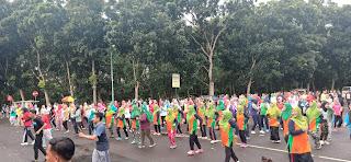 Peringati HTBS, LKNU dan Dinkes Kabupaten Tangerang Adakan Senam Bersama