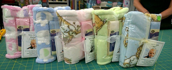 Baby Snuggle blanket kits by Katrina Hamer for @craftsavvy