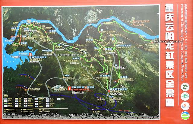 Yunyang Longgang Scenic Spot Map