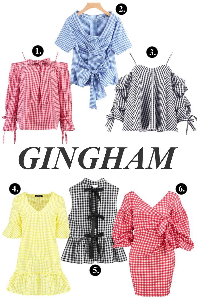 gingham, fashion trend