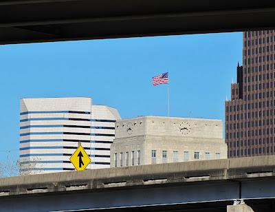 City Hall with American Flag - Houston Texas USA