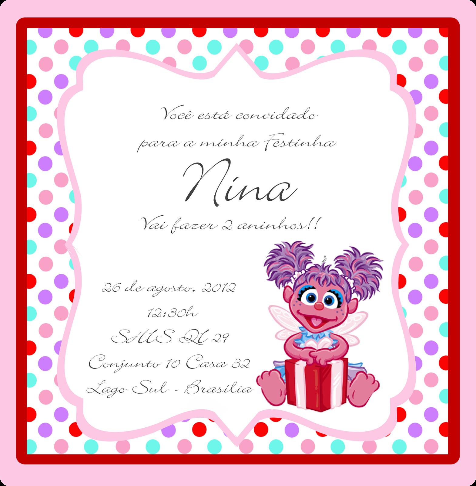 Doces Designs: Vila Sésamo Da Nina