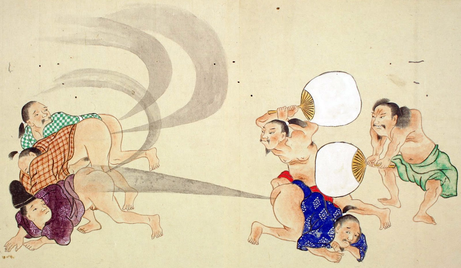 I Have No Idea Why Fart Fights Are Big In Ancient Japanese Scroll Painting But It Seems That They Indeed A Thing Heres Couple More Images From The