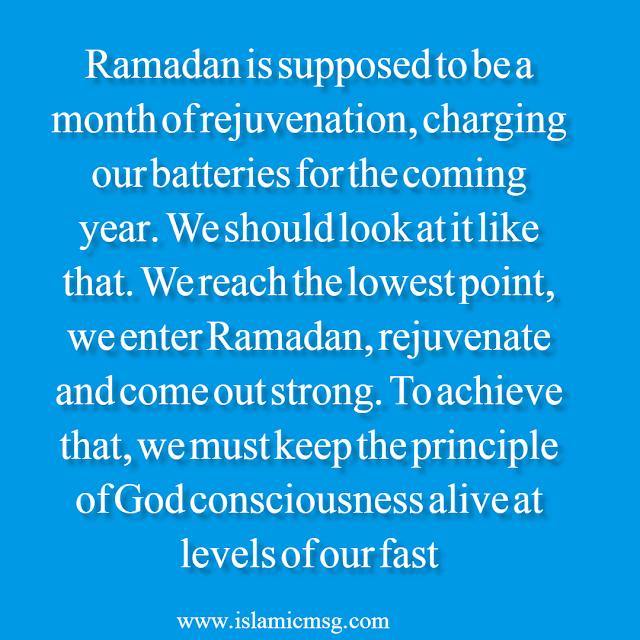 Ramadan a month of Rejuvenation