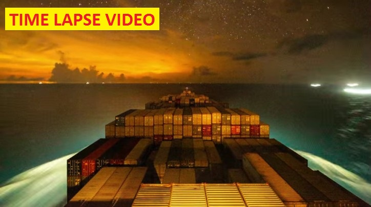 WATCH: Time Lapse of Gunhilde Maersk Gliding Around The World