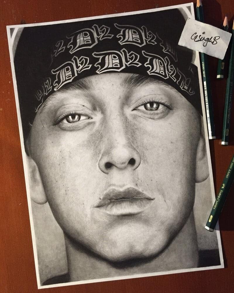 13-Eminem-Gurekbal-Bhachu-Realistic-Celebrity-Portraits-Drawings