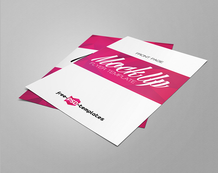 Flyer Mockup Free Template A4 and A5 Size, premium flyer mockups free