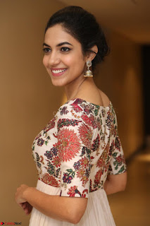 Ritu Varma smiling face Cream Anarkali dress at launch of OPPO New Selfie Camera F3 ~  Exclusive 073.JPG