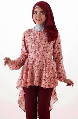 Batik Casual Hijab Untuk Wanita Muda