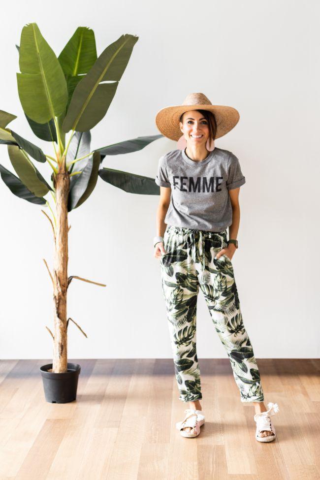 OLM - Palm Print Pants