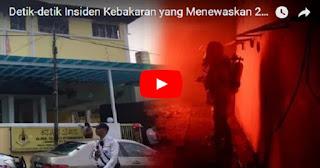 Innalillahi... Begini Video Detik-detik Insiden Kebakaran di Sekolah Pusat Tahfidz Darul Quran Ittifaqiyah