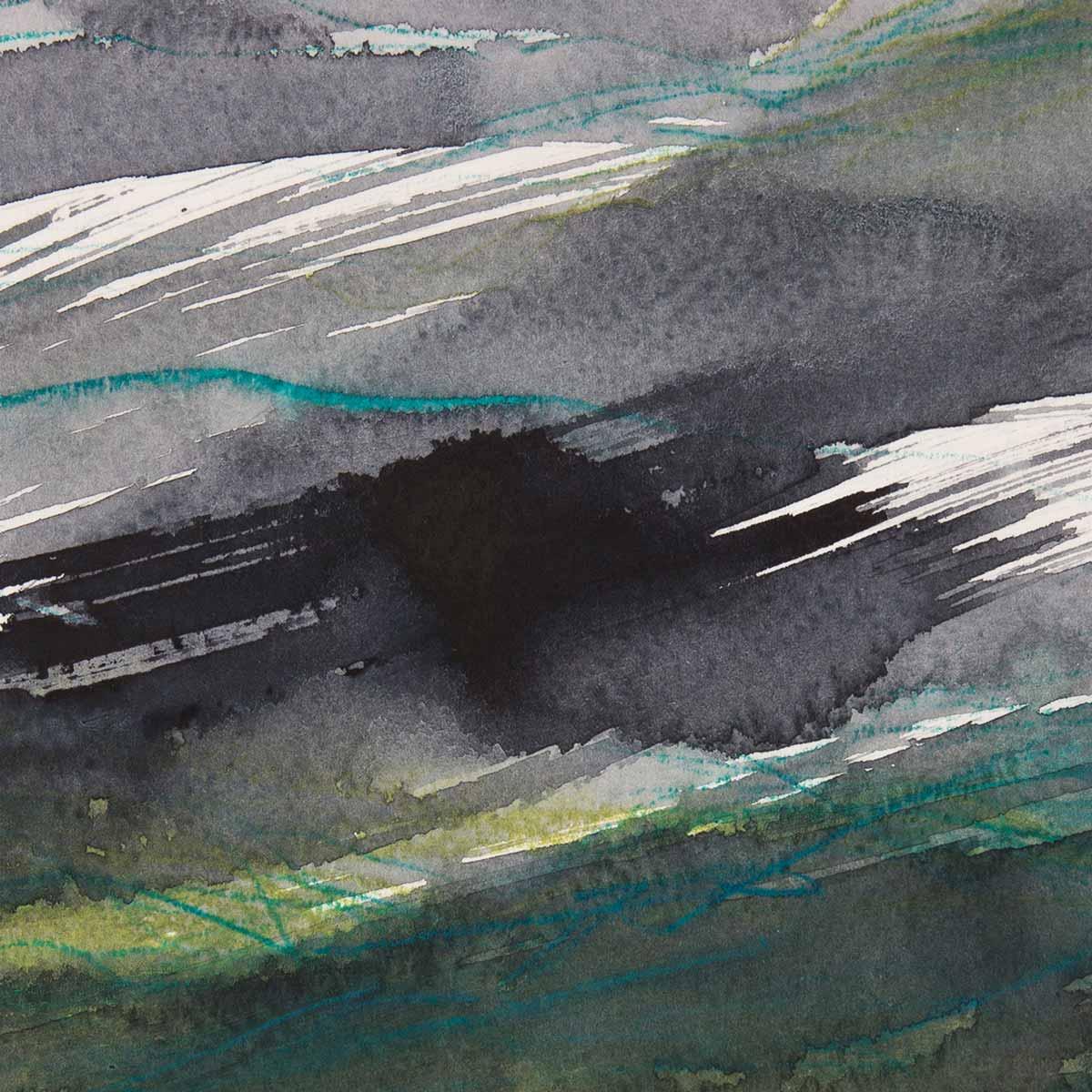 10 x 10 cm, aquarelle et crayons sur papier, 12 nov 14